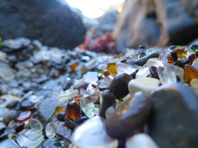 The locals will tell you that the beach used to be covered in a foot of sea glass so smooth you could walk on it with bare feet, but these days there are sections of the 38-acre beach where glass is difficult to come by.