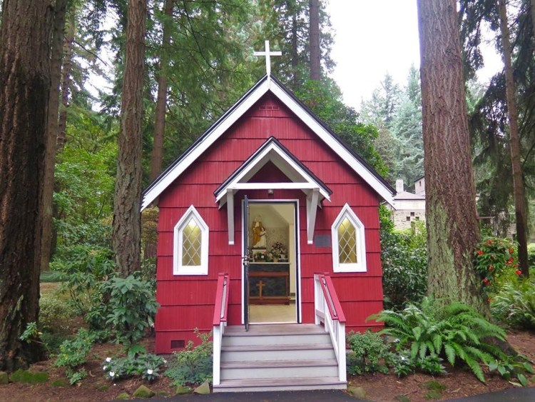 This little chapel-like building honors St. Anne, the mother of Mary.