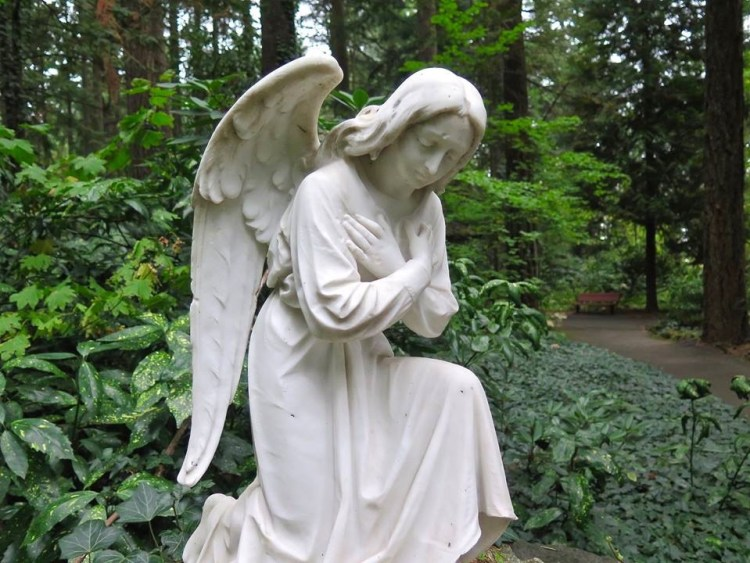 A pair of sorrowful angels...