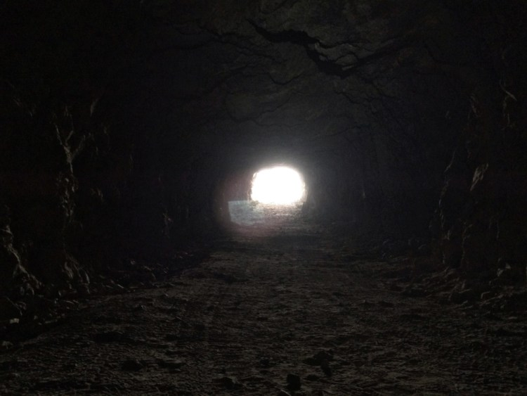 After an hour of exploring it was good to see the light at the end of the tunnel again.