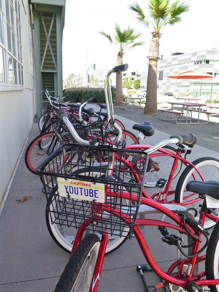 One of the first things Howard Hughes built was a motorized bicycle, using parts from a dismantled steam engine. Today the Management of the Hercules Campus provides bikes to its tenants, red for YouTubers & white for Konamians.