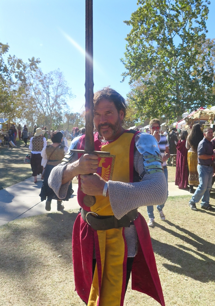 The great thing about a Renaissance Faire is that everyone loves to have their picture taken. Smile.