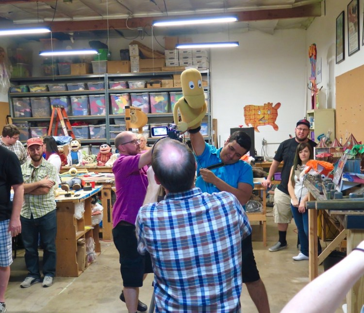 Swazzle performs puppet shows for schools, libraries, birthday parties, holiday parties, theaters, festivals, city events, malls, family nights and just about anybody else that's willing pay them.