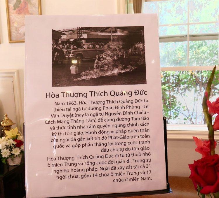 Being displayed for the first time was a relic of the Venerable Thich Quang Duc.