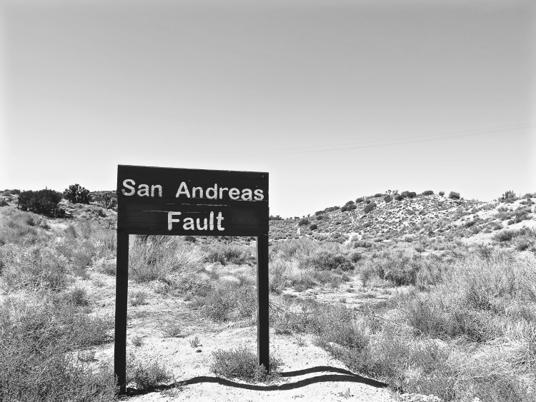 Approx. 8 miles from Charlie Brown Farms is the famous San Andreas Fault sign which can found along Pallett Creek Rd. between the towns of Juniper Valley and Valyermo.