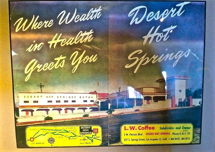 The town of DHS was founded by L. W. Coffee on July 12, 1941. L.W. Coffee's legendary hot mineral water Bath House opened on July 2nd 1942 and was an instant hit attracting over 2000 people on its opening day.