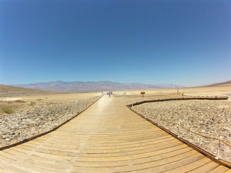 The boardwalk which leads to the pool and the salt flats.