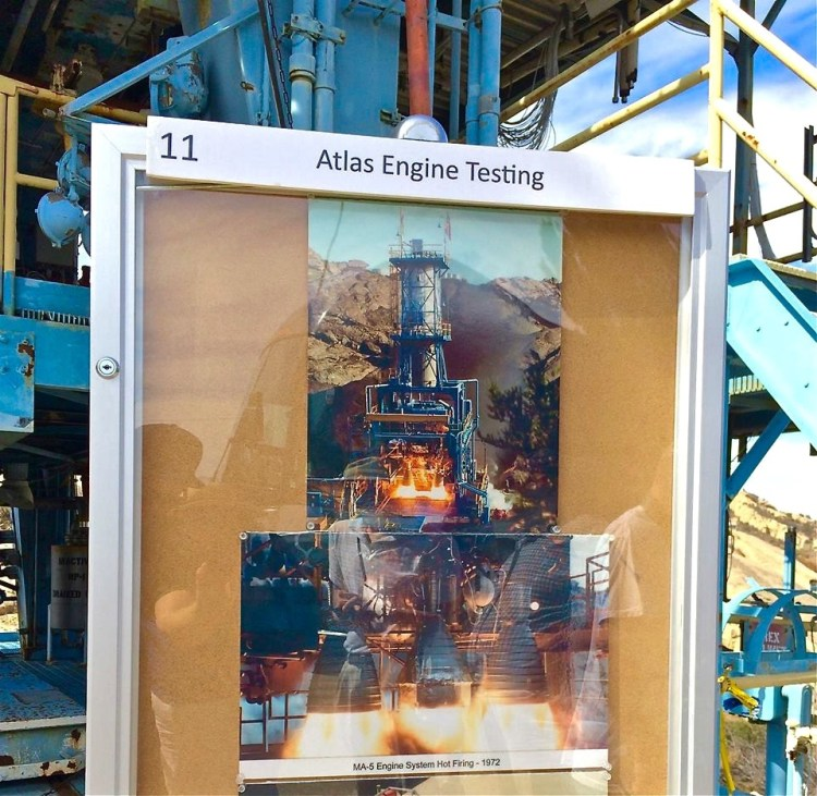 MA-5 engine system hot firing in 1972 using the ALFA 1 testing platform.