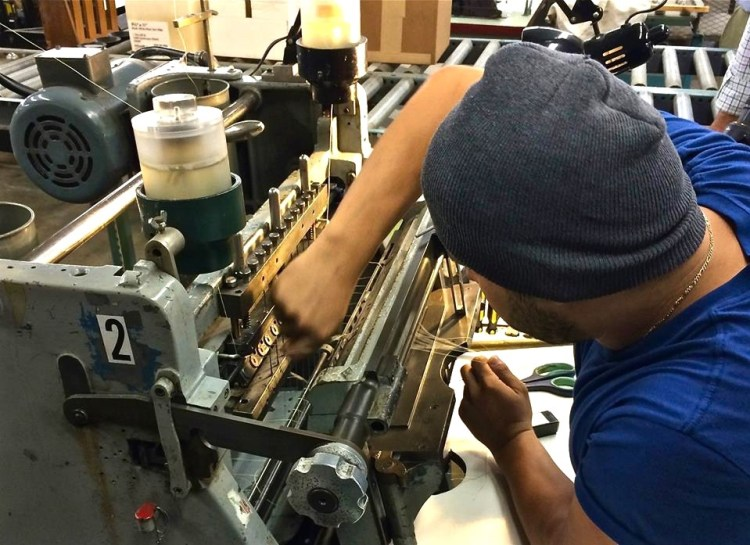 Special sewing requires special machinery that takes the steady hand of a human to make it work.