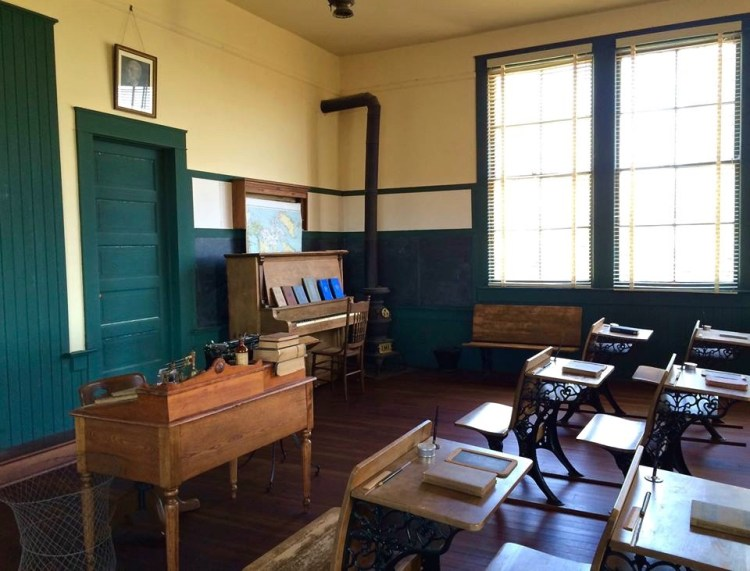 The next service which was started in the community was the Allensworth School District. This two room school was built in 1912, replacing the smaller schoolhouse that Josephine Allensworth purchased and had remodeled to become the town's public library.