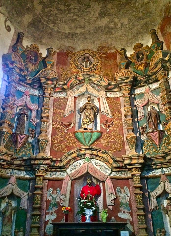 Inside, there's a wealth of painted statues, carvings, and frescoes. Paul Schwartzbaum, who helped restore Michelangelo's masterwork in Rome, supervised Tohono O'odham artisans in the restoration of the mission's artwork, completed in 1997; Schwartzbaum has called the mission the Sistine Chapel of the United States.
