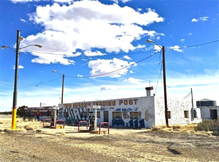 The Twin Arrows Trading post, originally Padre Canyon Trading Post, was built on the 1937 Route 66 alignment. It came into its own in 1955 when the Troxell Family turned it into an experience that would put the property into history books as an icon of Route 66.