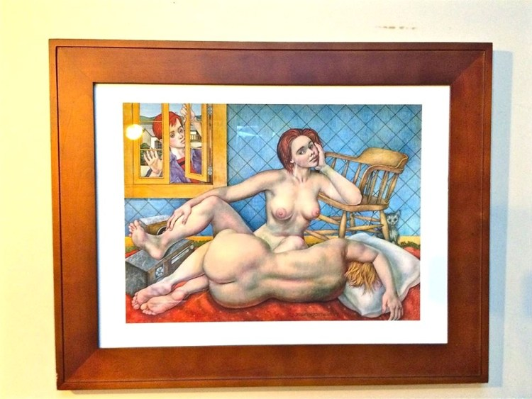 She told me she was his naked muse and showed me this painting which represents an adolescent Jirayr coming of age and discovering his sexuality (or that's what I thought she said).