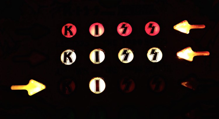 17,000 machines were produced. One notable feature included backglass light animation (letters in K-I-S-S would light up when scored, animate during Game Over).