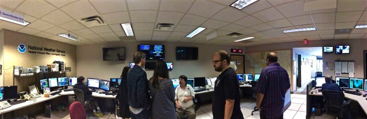 NWS Master Control. Not as exciting as I expected but still pretty cool.