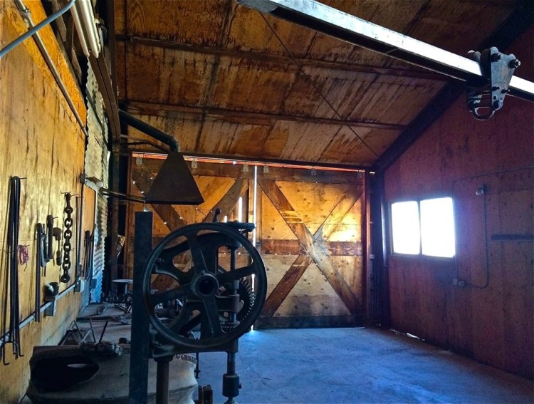 The shop inside the Mizpah Mine Hoist House.