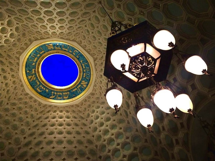 The eight Spice Box Chandeliers hanging in the sanctuary were restored back to their original glory.