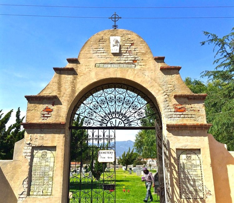 I always thought Evergreen Cemetery in Boyle Heights was the oldest but it's not. Evergreen was established on August 23, 1877. The San Gabriel Mission was first consecrated in 1778.