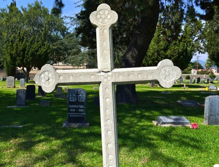 cemetery on the grounds marked with a large stone cross contains the graves of over 6,000 native Americans and Franciscans who served at the mission.