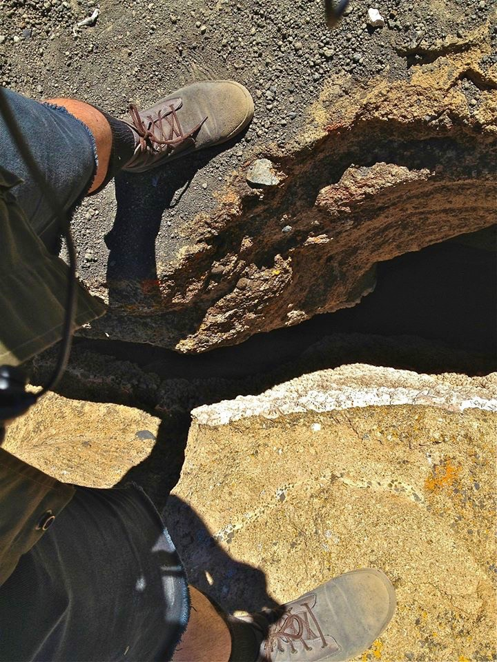 The fissures are only a few feet wide, resembling the slot canyons of southern Utah.