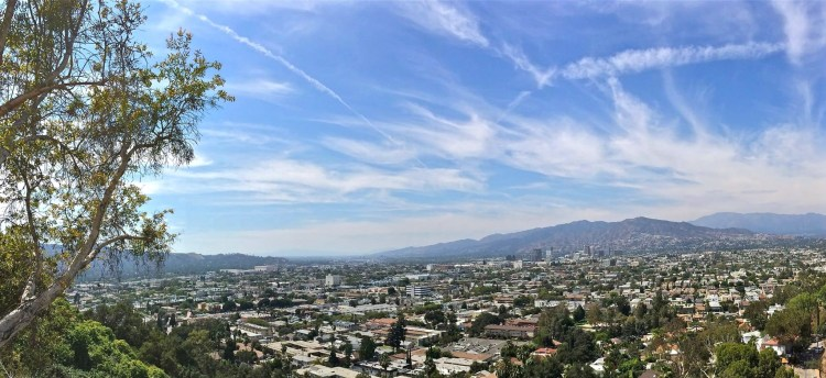 Forest Lawn has numerous places to enjoy some incredible views of our city, including this one of Glendale.