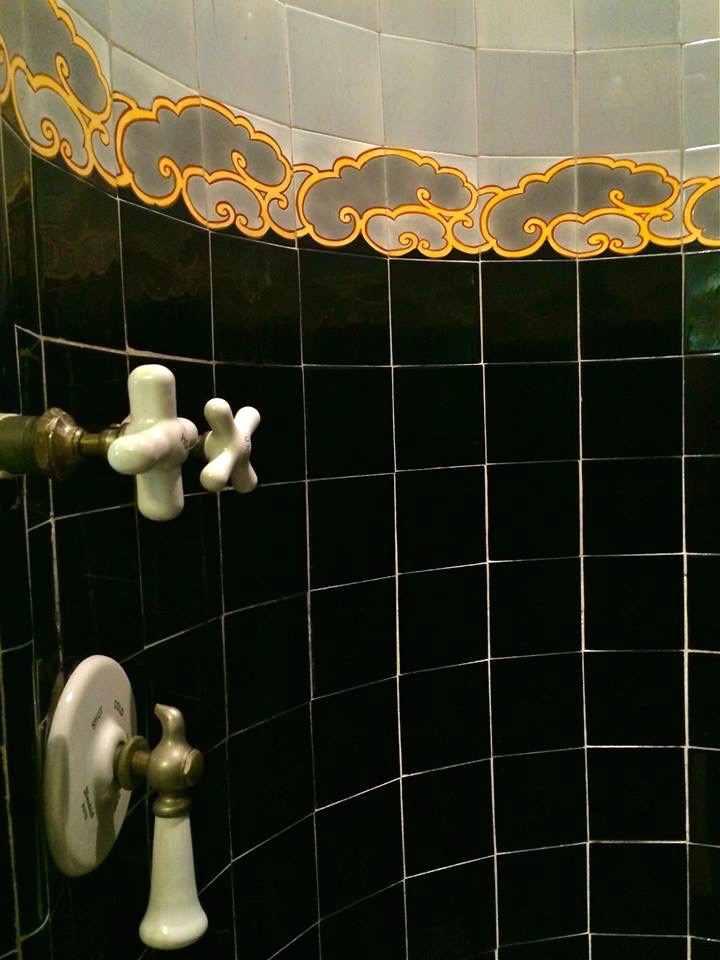 Beautiful tile work in the upstairs master bath.