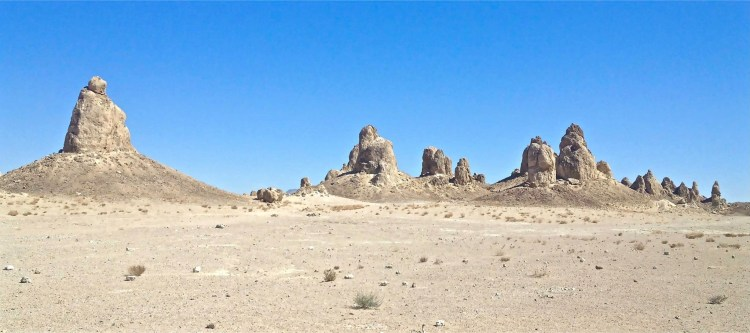 The Trona Pinnacles were designated by the Department of the Interior as a National Natural Landmark in1968 to protect one of the nation's best examples of tufa formation.