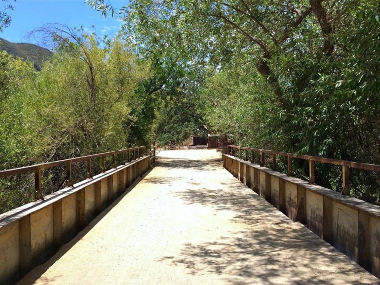The best part of the ranch can be found not to far from the parking lot and just over this bridge.