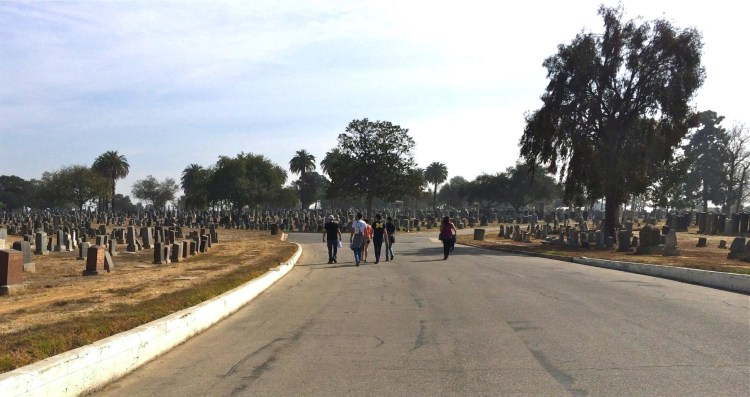 Walking amongst the graves of over 300,000 souls.