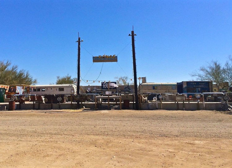 There's performance stages in Slab City...