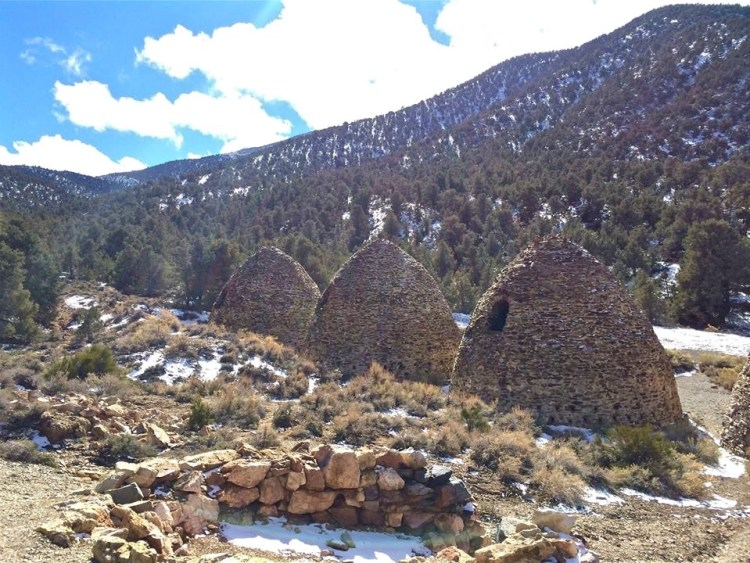 These ten beehive shaped masonry structures, about 25 feet high, are believed to be the best known surviving example of such kilns to be found in the western states.
