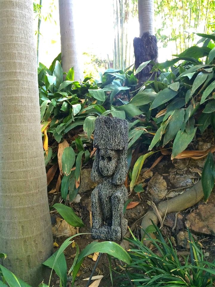 Monkey sculptures in the Tropical Palm Garden.