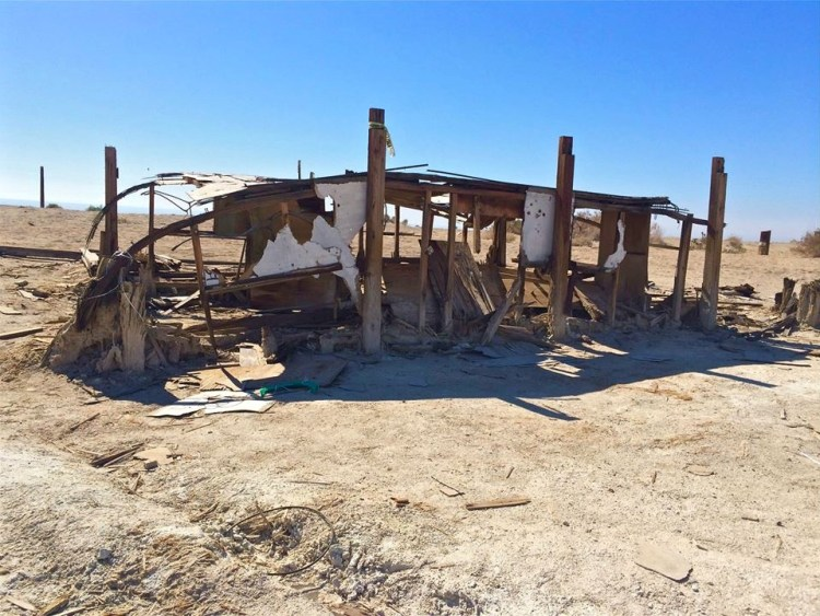 Bombay Beach Buried Trailer