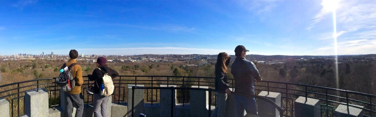 The 360 degree views atop Washington Tower.