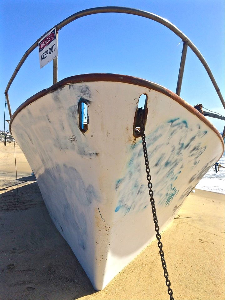 She washed up onto Playa Del Rey a few weeks ago after a storm ran her aground.