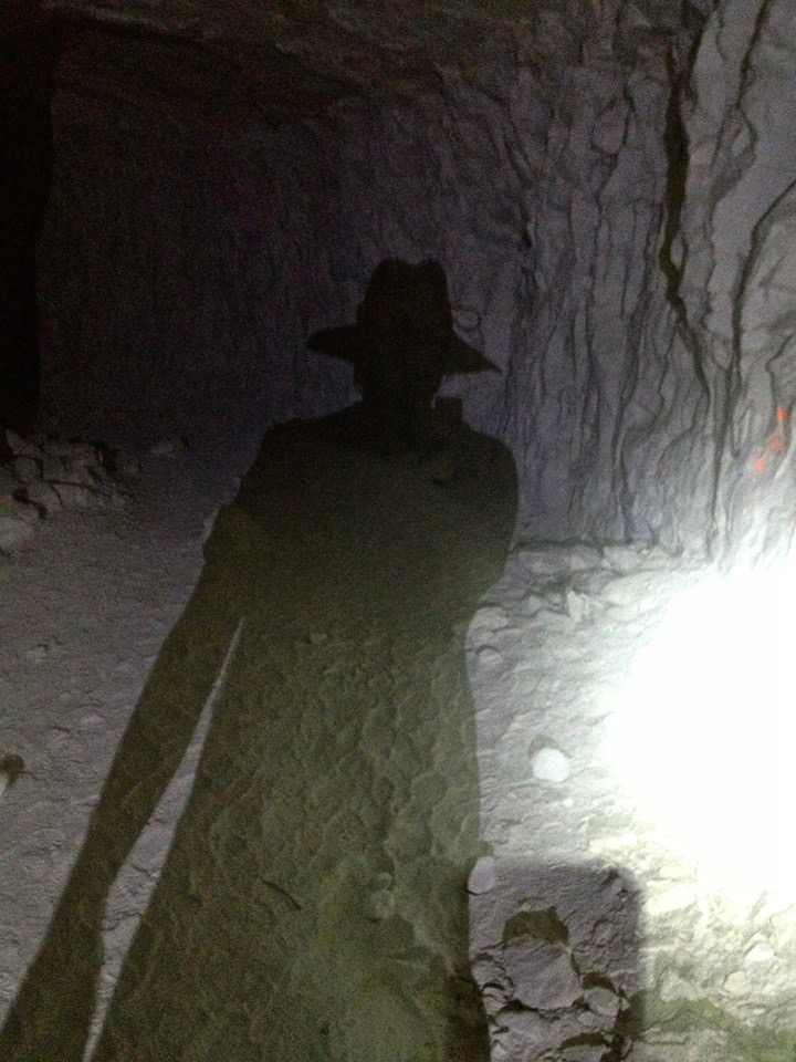 Ghost of Cash found three stories down, deep and dark within the Old Dutch Cleanser Mine.