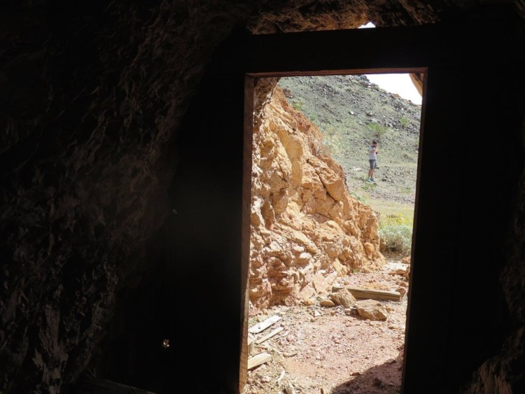 ...or perhaps a little shaded hole to escape the unbearable heat inside and outside of the mine.