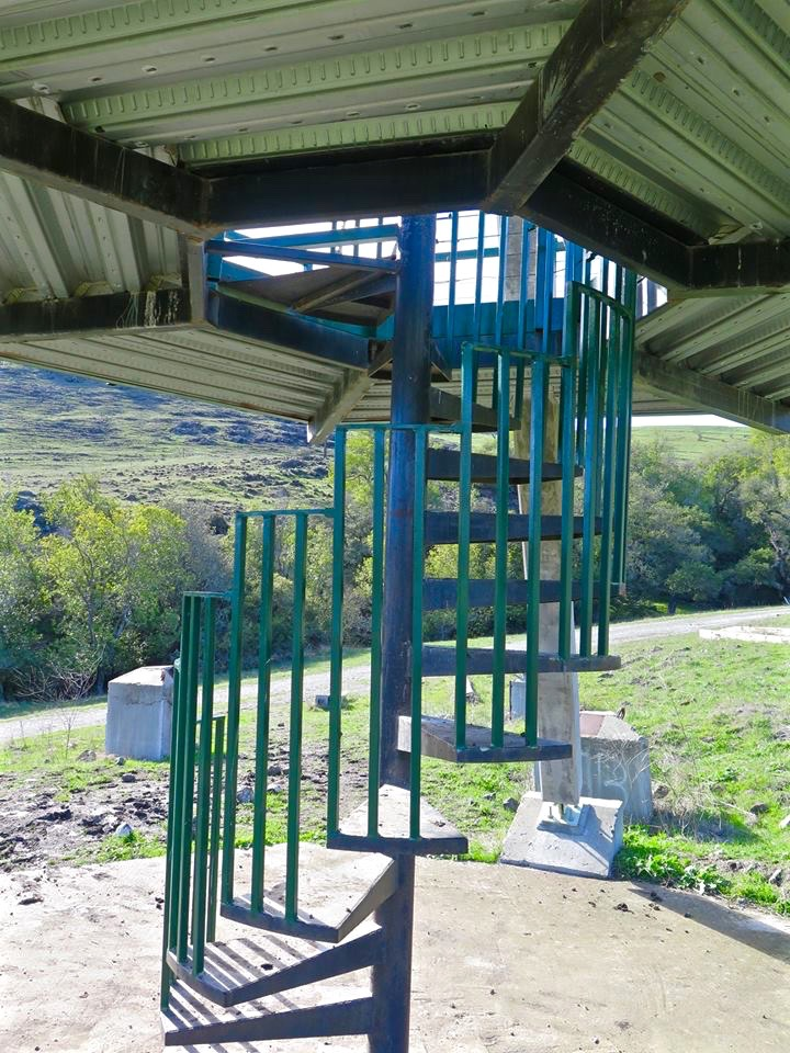 Stairs to lookout tower.