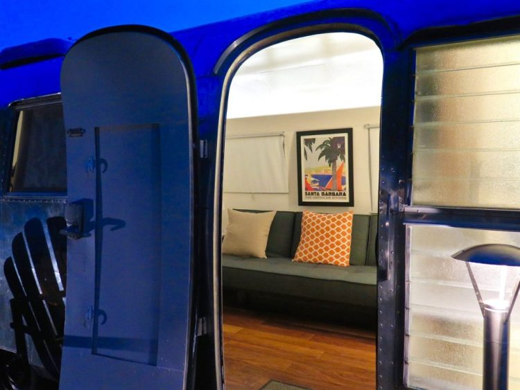 """Each Airstream has been uniquely designed to connect yesterday with today, without giving up modern comforts,"" says [architect Matthew] Hofmann. ""Our spaces also help connect people with their inner souls and outer environment… and one way we did this was to maintain simple lines and remove the clutter."""