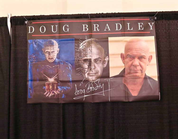 It also attracts a wide array of celebrity guests who sit on panels, do meet and greets and sign autographs for fans (for a fee of course). Some of the guests at the 2016 event included: – Doug Bradley – Pinhead from Hellraiser…One of my faves. – Ashley Laurence – Kirsty Cotton from Hellraiser – Haruo Nakajima – Godzilla suit actor from inception to 1972 – David Naughton – American Werewolf in London – Dina Meyer – Starship Troopers, Saw II – Tom Savini – Master Makeup Artist, Actor, and Director – John Murdy – Universal Halloween Horror Nights – Nick Castle – Writer and Director, Original Halloween Michael Myers – Linda Blair – The Exorcist – Adrienne Barbeau – The Fog, Creepshow, Escape from New York