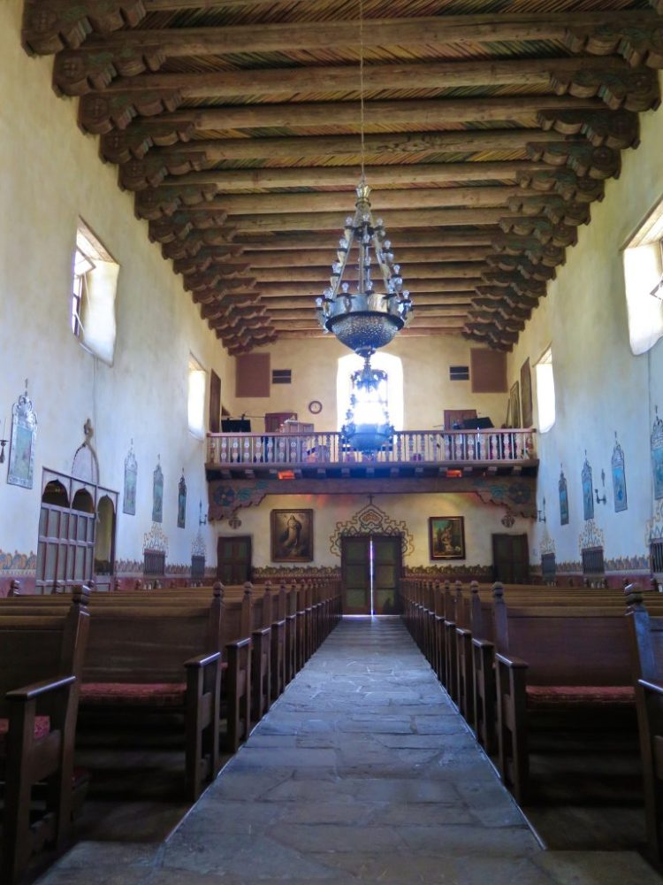 The unique architectural style was patterned after the Pueblo Indian missions built in New Mexico and Arizona as early as the 17th century