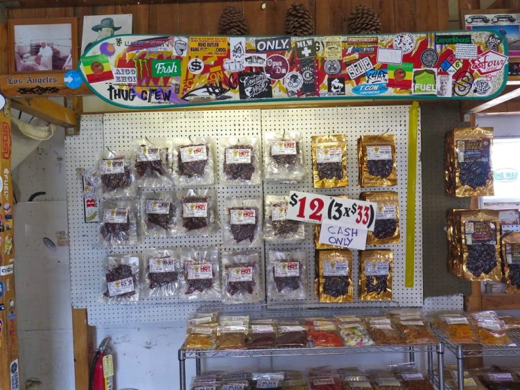 Gus Niepagen opened his jerky stand at the southern end of the Owens Valley in 1996.