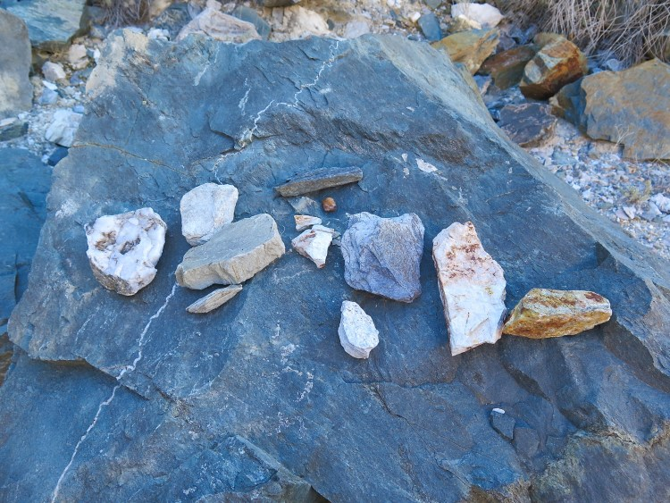 There was a wide variety of rocks too see along our hike.