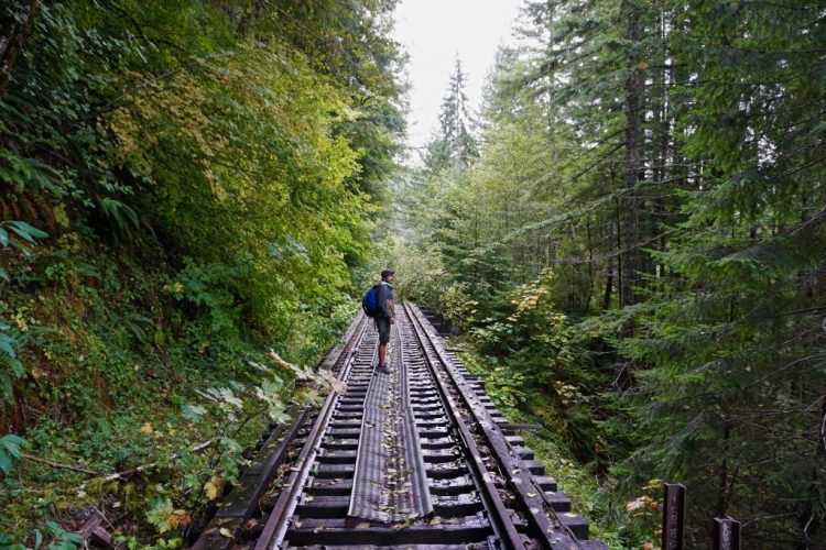 PORT OF TILLAMOOK BAY ABANDONED RAILROAD HIKE: SALMONBERRY