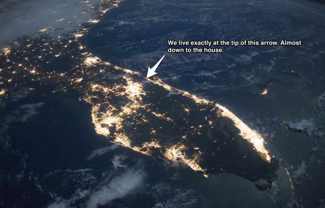 Florida From the ISS, Where We Live