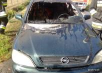 Pożar samochodu osobowego w Szycach (3)