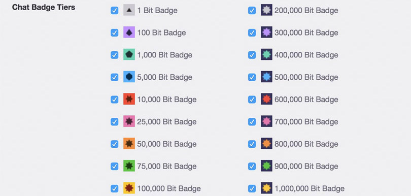 The New Twitch Bit Chat Badge Tiers Are Now Active Streamer News