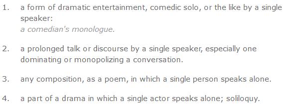 monologue definition