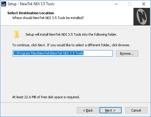 NewTek NDI Installer