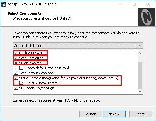 NDI Setup Components